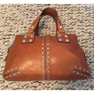 Michael Kors Vintage Astor Studded Leather Satchel